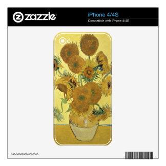 Girasoles de Vincent van Gogh el  , 1888 iPhone 4 Calcomanía