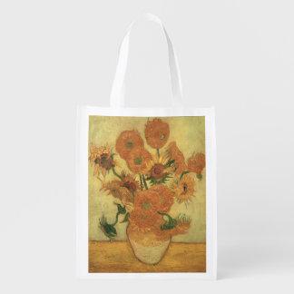 Girasoles de Vincent van Gogh el |, 1889 Bolsas Reutilizables