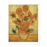 Girasoles de Vincent van Gogh el  , 1889 Postales