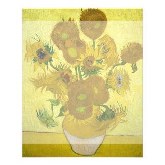 Girasoles de Vincent van Gogh Flyer A Todo Color
