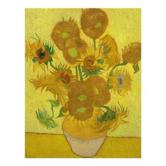 Girasoles de Vincent van Gogh Flyer Personalizado