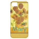 Girasoles de Vincent van Gogh iPhone 5 Case-Mate Carcasas