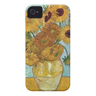 Girasoles de Vincent van Gogh iPhone 4 Cárcasa