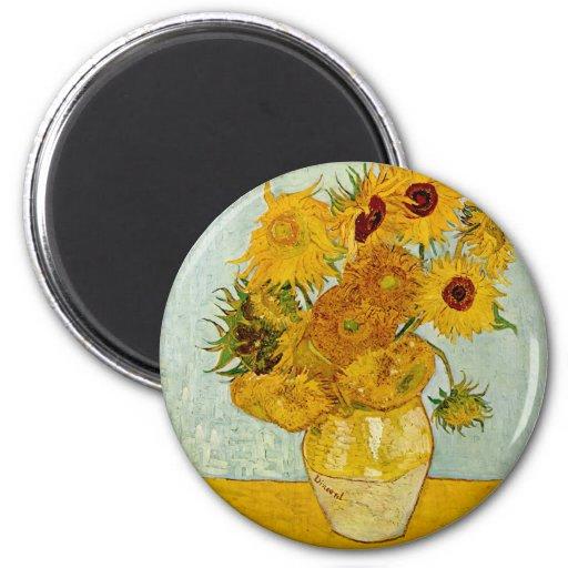 Girasoles de Vincent van Gogh Imanes