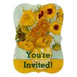 Girasoles de Vincent van Gogh Invitación Personalizada