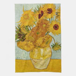 Girasoles de Vincent van Gogh Toalla De Mano