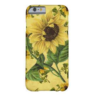 Girasoles del vintage funda barely there iPhone 6