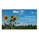 Girasoles en el cielo azul tarjetas de visita