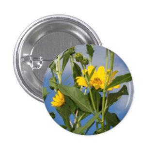 Girasoles en la foto de Iowa Pin Redondo De 1 Pulgada