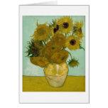 Girasoles en una bella arte de Van Gogh del Tarjeta De Felicitación