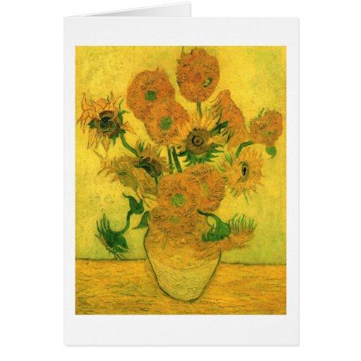 Girasoles en una bella arte de Van Gogh del Tarjeta Pequeña