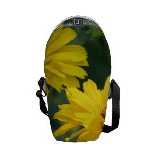 Girasoles falsos amarillos bolsas de mensajeria