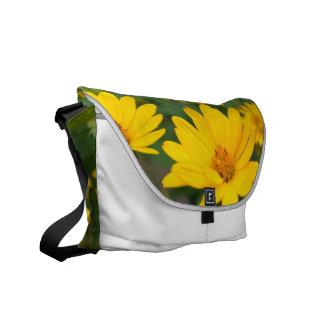 Girasoles falsos florecientes bolsa de mensajeria