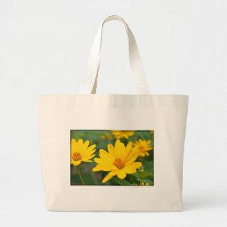 Girasoles falsos florecientes bolsa de mano