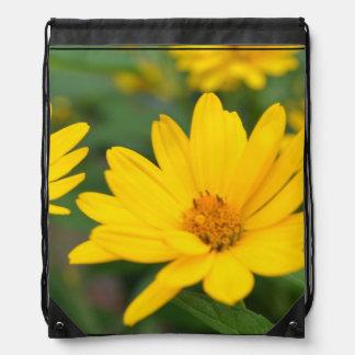 Girasoles falsos florecientes mochila