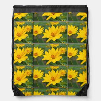 Girasoles falsos florecientes mochilas