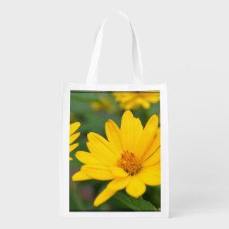 Girasoles falsos florecientes bolsas para la compra