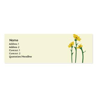 Girasoles - flacos tarjetas de visita mini