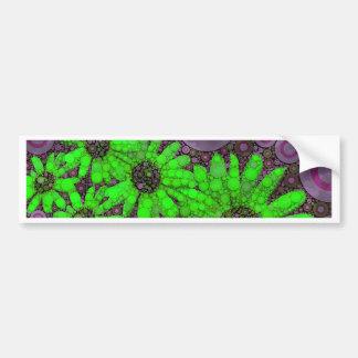 Girasoles fluorescentes de la lavanda hermosa pegatina para auto