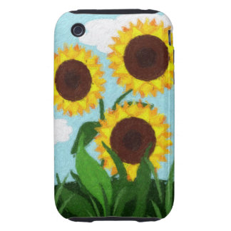 Girasoles Tough iPhone 3 Fundas