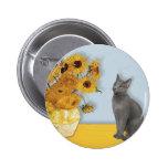 Girasoles - gato azul ruso pins