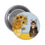 Girasoles - gato de tigre del Tabby 30 Pins