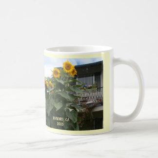 girasoles gigantes taza