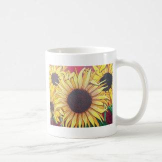 Girasoles gloriosos taza clásica