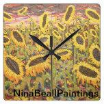 """""""Girasoles grandes"""" por Nina Beall Relojes"""