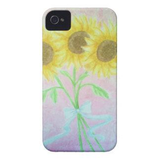 Girasoles iPhone 4 Case-Mate Carcasas