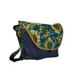 Girasoles, la bolsa de mensajero floral del person bolsa de mensajeria