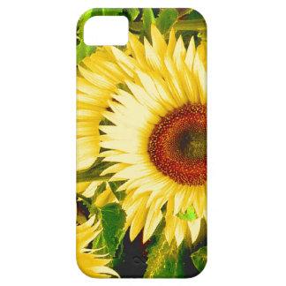 Girasoles - la flor para un 3ro aniversario iPhone 5 carcasas