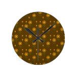 Girasoles lindos reloj de pared