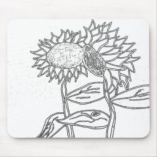 Girasoles Mousepad del Doodle Tapete De Ratones