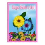 Girasoles para la mamá el el día de madre postal