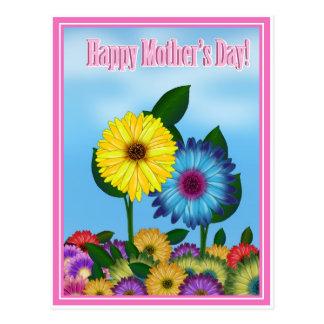 Girasoles para la mamá el el día de madre postales
