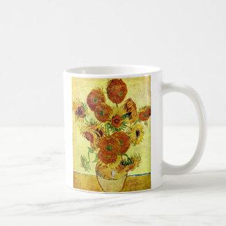 Girasoles que pintan a Van Gogh Taza