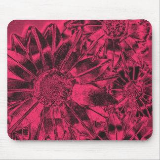 Girasoles rosados metálicos Mousepad Tapetes De Ratones