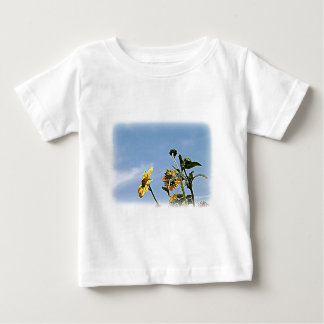Girasoles salvajes playera de bebé