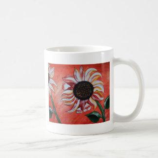 Girasoles salvajes tazas de café