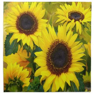Girasoles soleados servilletas