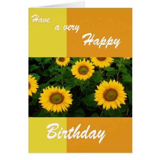 Girasoles - tarjeta de cumpleaños