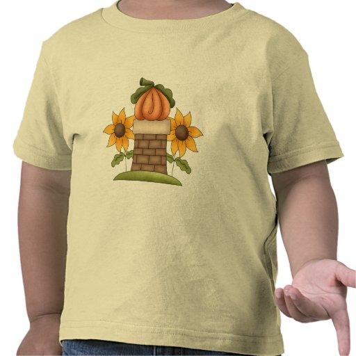 Girasoles y calabaza camiseta