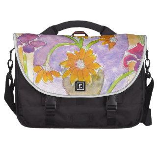 Girasoles y iris falsos de Van Gogh Bolsas Para Ordenador