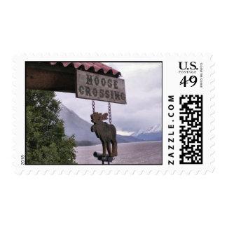 Girdwood Moose Crossing Stamp