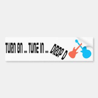 Gire - tono adentro - a la pegatina para el parach etiqueta de parachoque