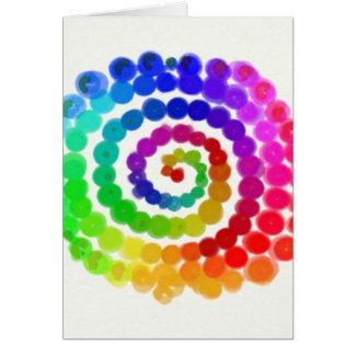Gíreme un arco iris tarjeta de felicitación