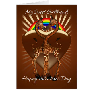 Girfriend Lesbian Valentine s Day Card With Two Lo