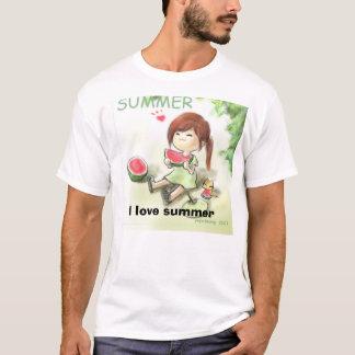 girl3_21640, I love summer T-Shirt