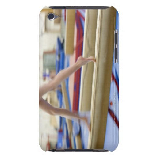Girl (16-17) running on balance beam, low iPod touch Case-Mate case
